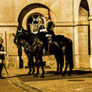 Horseguards Inspection. Art Print