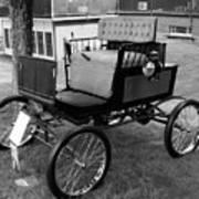 Horseless Carriage-bw Art Print