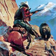Horseman And Bear Art Print