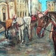 Horses In Florence Art Print