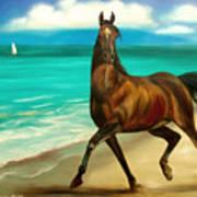 Horses In Paradise  Dance Art Print