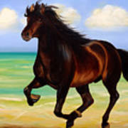 Horses In Paradise  Run Art Print