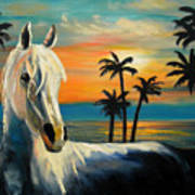Horses In Paradise  Tell Me Your Dream Art Print
