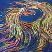 Horses Meet In The Wind Art Print