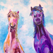 Horses Of A Different Color Art Print