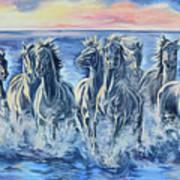 Horses Of The Sea Art Print