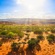 Horseshoe Bend Desert Art Print