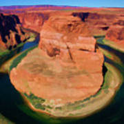Horseshoe Bend Filters Paint  Art Print