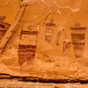 Horseshoe Canyon Great Gallery Group 3 Pictographs Art Print
