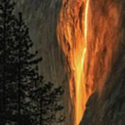 Horsetail Falls In Yosemite National Park Art Print