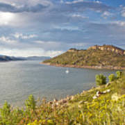 Horsetooth Dam Co Art Print
