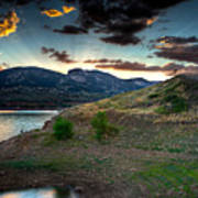 Horsetooth Reservior At Sunset Art Print