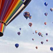 Hot Air Balloon - 12 Art Print by Randy Muir