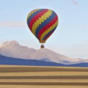 Hot Air Balloon And Longs Peak Art Print