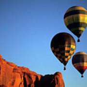 Hot Air Balloon Monument Valley 5 Art Print