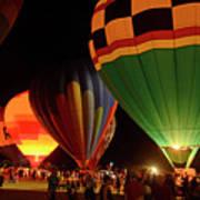 Hot Air Balloons At Night October 28, 2017 #2 Art Print
