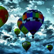 Hot Air Balloons In Albuquerque Art Print