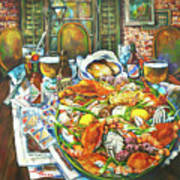 Hot Boiled Crabs Art Print