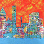 Hot Day In The City Art Print