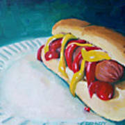 Hot Dog Art Print