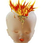 Hot Head Art Print