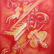 Hot Jazz Art Print