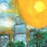 Hot Miami Sky Art Print