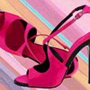 Hot Momma's Hot Pink Pumps Art Print