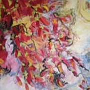 Hot Pepper Drying Art Print