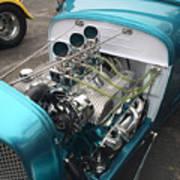 Hot Rod Engine Detail Art Print