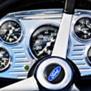 Hot Rod Ford Steering Wheel Art Print