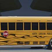 Hot Rod School Bus Art Print