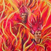 Hot Samba I Triptyche Left Panel Art Print