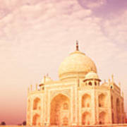 Hot Taj Mahal Art Print