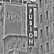 Hotel Fusion Art Print
