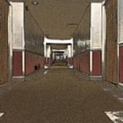 Hotel Hallway. Art Print