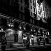 Hotel Metro, Nyc - Bw Art Print