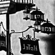 Hotel Sign - Reality And Shadow Art Print
