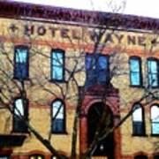 Hotel Wayne Bistro - Honesdale Pa Art Print