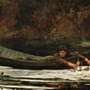 Hound And Hunter Art Print by Winslow Homer