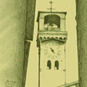 hour tower Lucca Art Print