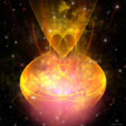 Hourglass Nebula Art Print