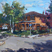 House At Goldmar Dr Mississauga On Art Print