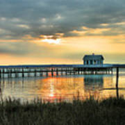 House At The End Of The Pier Art Print by Steven Ainsworth