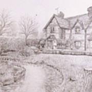 House By Lake Art Print