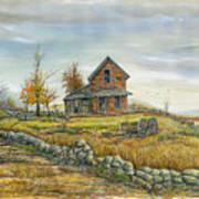 House By The Rock Wall Art Print