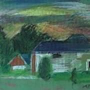 House During Sunset Art Print