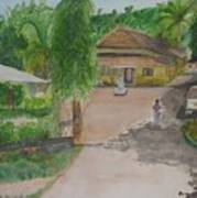 House In Goa Art Print