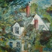 House In Gorham Art Print