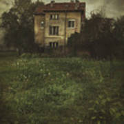 House In Storm Art Print